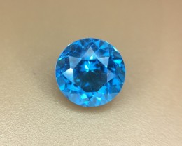 1.75 Crt Natural Blue Topaz Faceted Gemstone (937)