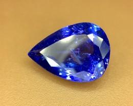 3.95 Crt Natural Tanzanite Top Color D-Block Faceted Gemstone