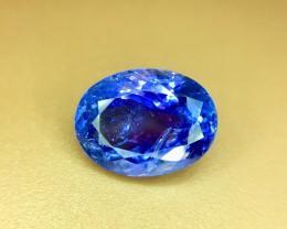 4.80 Crt Natural Tanzanite Top Color D-Block Faceted Gemstone