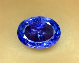 5.70 Crt Natural Tanzanite Top Color D-Block Faceted Gemstone