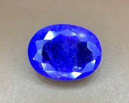 3.50 Crt Natural Tanzanite Top Color D-Block Faceted Gemstone