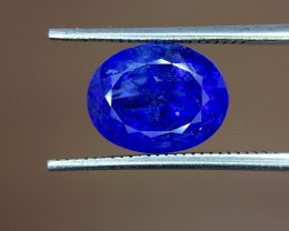 4.15 Crt Natural Tanzanite Top Color D-Block Faceted Gemstone