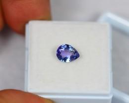 1.25Ct Natural Violet Blue Tanzanite Pear Cut Lot V647