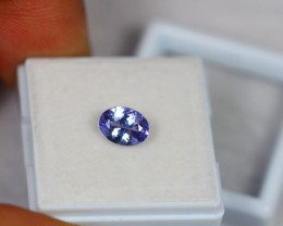 1.11ct Natural Violet Blue Tanzanite Oval Cut Lot GW627