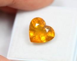 Lot 15 ~ 6.14Ct Natural Ceylon Yellow Sapphire Heart Cut