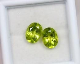 Lot 07 ~ 3.14Ct 8x6mm Natural VS Clarity Green Himalayan Peridot
