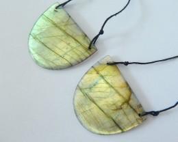 Hot Fashion,67ct Natural Flashy Labradorite Spcial Design Earrings,Fashion