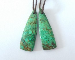 17ct Natural African Turquoise Earrings(18012110)