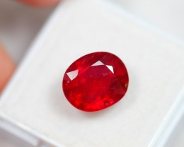Lot 03 ~ 7.29Ct Natural VS Clarity Blood Red Color Ruby