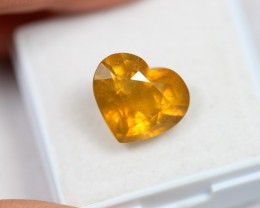 Lot 10 ~ 7.73Ct Natural Ceylon Yellow Sapphire Heart Cut