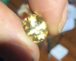6.55 Ct yellow zircon.