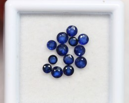 NR Lot 03 ~ 1.56Ct 2-3mm Natural VS Clarity Royal Blue Color Sapphire