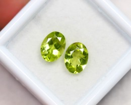 NR Lot 10 ~ 2.44Ct 7x5mm Natural VS Clarity Green Himalayan Peridot