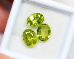 NR Lot 15 ~ 4.00Ct 7x5mm, 8x6mm Natural VS Clarity Green Himalayan Peridot