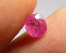 1.38cts Natural Burmese Ruby , Untreated Gemstone