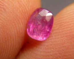 0.93cts Natural Burmese Ruby , Untreated Gemstone
