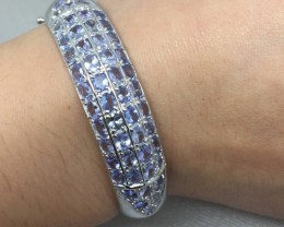 Stunning Nat 163.5tcw. Top Violet Blue Tanzanite Bangle