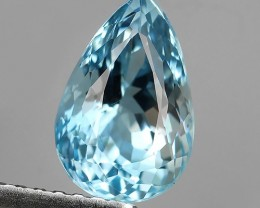 1.60 Cts STUNNING RARE NATURAL LUSTER BLUE AQUAMARINE NR!!!