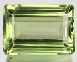 ~BEAUTIFUL~ 41.70 Cts Natural Prasiolite (Green Amethyst) Octagon Brazil