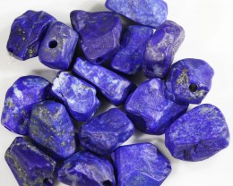 146.35 CTS  LAPIS LAZULI BEADS-A GRADE  -DRILLED [F7262]