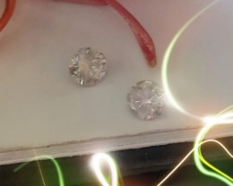 NATURAL WHITE DIAMOND--0.38CTWSIZE-2PCS