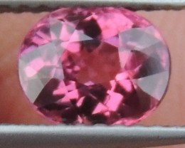 1.41cts  Pink Malaya Garnet,  Open Sweet Color,