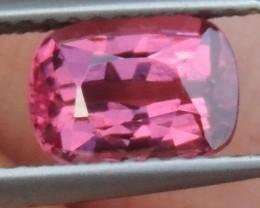 1.70cts  Pink Malaya Garnet,  Open Sweet Color,
