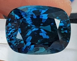 GIA - 25.10cts, Blue Zircon,  Beyond Top Blue,