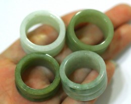 166.0Ct Beautiful Unisex Old type Rich Green Jadeite Jade Ring