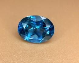 1.60 Crt Natural London Blue Topaz Faceted Gemstone (R 127)