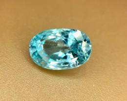3.05 Crt Natural Blue Zircon Faceted Gemstone (R 127)