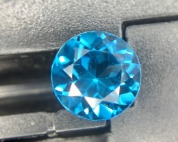 1.50 Crt Natural London Blue Topaz Faceted Gemstone (938)