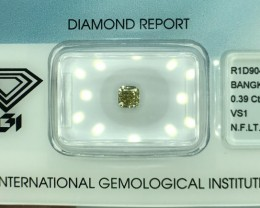 IGI CERTIFIED VS1 BROWNISH FANCY DAIMOND WITH TOP LUSTER