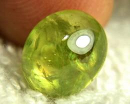 6.14 Carat Green Siberian Sphene Cabochon - Gorgeous