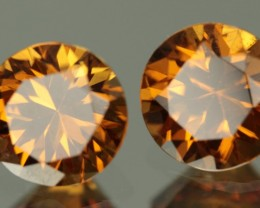 2.46 CTW ORANGE ZIRCON PAIR - CALIBRATED!