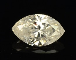 0.20 Cts Natural Pale White Diamond Marqise Africa