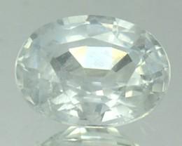 1.02 Cts Natural Corundum White Sapphire Oval Africa
