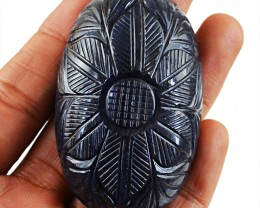 Genuine 411.50 Cts Carved Iolite Gem