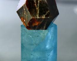 42 ct Beautiful, Natural Superb Hand Made Aquamarine+Garnet