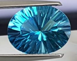 2.66cts, Blue Topaz, Custom cut,  Clean, Calibrated