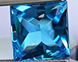 2.65cts, Blue Topaz, Custom cut,  Clean, Calibrated