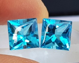5.69cts, Blue Topaz, Custom cut,  Clean, Calibrated