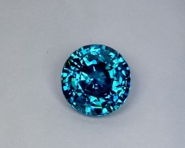 3.99 CT Top Luster Stunning Round Cut -Natural Blue Zircon
