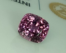 2.07 ct Beautiful Cushion Cut Natural Light Pink Spinel