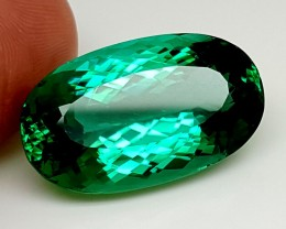 34Crt Top Green Spodumene Best Faceted Gemstones GS03