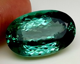 57.85Crt Top Green Spodumene Best Faceted Gemstones GS05