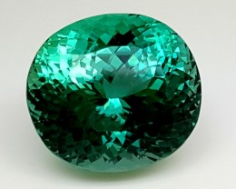 37.45Crt Top Green Spodumene Best Faceted Gemstones GS06