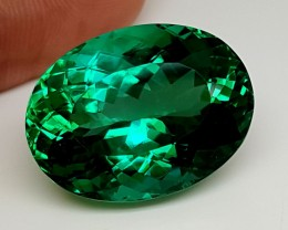 40.45Crt Top Green Spodumene Best Faceted Gemstones GS07