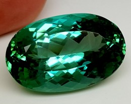 31.20Crt Top Green Spodumene Best Faceted Gemstones GS08