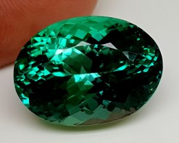 25.30Crt Top Green Spodumene Best Faceted Gemstones GS10